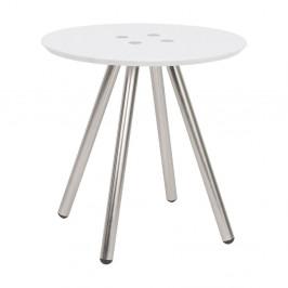 Biely konferenčný stolík Letmotiv Sliced, ø 40 cm