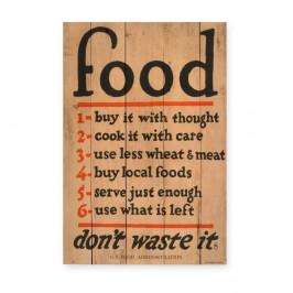 Drevená ceduľa Really Nice Things Food, 60×40 cm