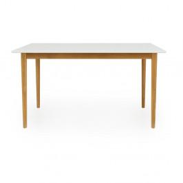 Biely jedálenský stôl Tenzo Svea, 80 x 140 cm