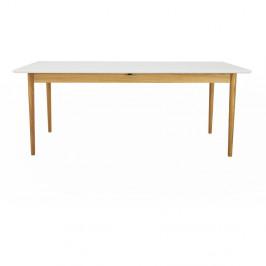 Biely rozkládací jedálenský stôl Tenzo Svea, 90 x 195 cm