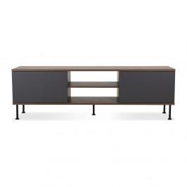 Antracitovosivý TV stolík Tenzo Daxx, šírka 163 cm