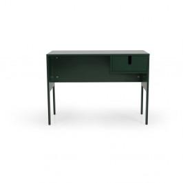 Tmavozelený pracovný stôl Tenzo Uno