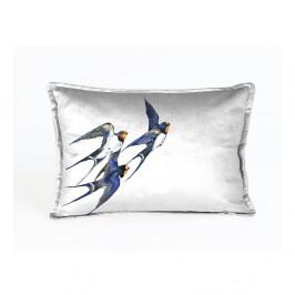 Dekoratívna obliečka na vankúš Velvet Atelier Birdies, 50×35cm
