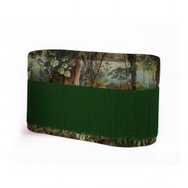 Puf s tropickým motívom so zamatovým poťahom Velvet Atelier