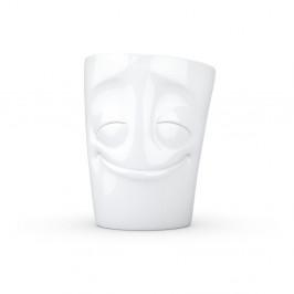 Biely spokojný porcelánový hrnček s uškom 58products, objem 350 ml