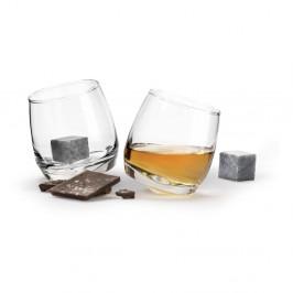 Sada 2 pohárov na whiskey a chladiacimi kameňmi Sagaform Gentleman, 200 ml