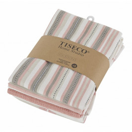 Sada 5 lososovoružových bavlnených utierok Tiseco Home Studio, 50 × 70 cm