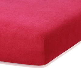 Bordó Červená elastická plachta s vysokým podielom bavlny AmeliaHome Ruby, 200 x 80-90 cm