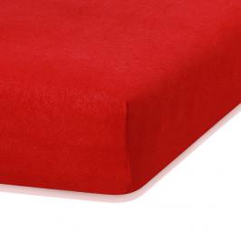 Červená elastická plachta s vysokým podielom bavlny AmeliaHome Ruby, 200 x 120-140 cm