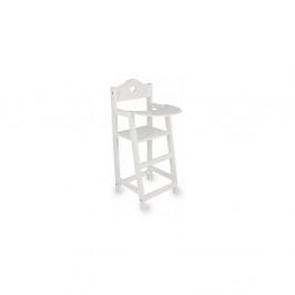 Biela drevená stolička pre bábiky Legler Doll's