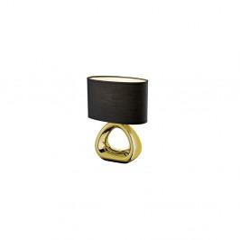 Stolová lampa v čierno-zlatej farbe z keramiky a tkaniny Trio Gizeh, 34,5 cm