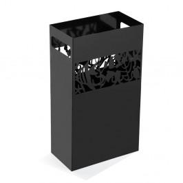 Čierny kovový stojan na dáždniky Versa Acuario, výška 49 cm