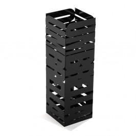 Čierny kovový stojan na dáždniky Versa Unbrella, výška 49 cm