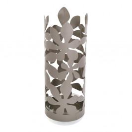 Sivý kovový stojan na dáždniky Versa Flores, výška 49 cm