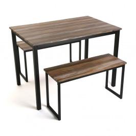 Set stola s 2 lavicami Versa Blanca