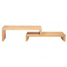 Svetlohnedý dvojitý konferenčný stôl TemaHome Cliff, 125 × 20 cm