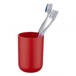 Červený pohárik na zubné kefky Wenko Brasil Red