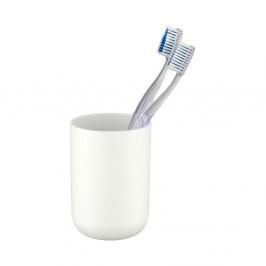 Biely pohárik na zubné kefky Wenko Brasil