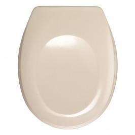Svetloružové WC sedadlo Wenko Bergamo, 44,4 x 37,3 cm