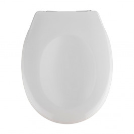 Biele WC s jednoduchým zatváraním sedadlo Wenko Savio, 45 x 37,5 cm