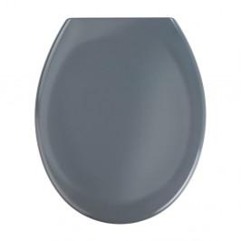 Tmavosivé WC sedadlo s jednoduchým zatváraním Wenko Premium Ottana, 45,2 x 37,6 cm