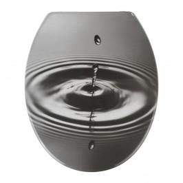 WC sedadlo s jednoduchým zatváraním Wenko Waterdrop, 44,5 × 37,5 cm