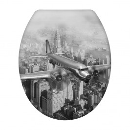 WC sedadlo s jednoduchým zatváraním Wenko Old Time Plane, 45,5 × 38 cm