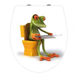 WC sedadlo s jednoduchým zatváraním Wenko Frog News, 45 x 38,8 cm