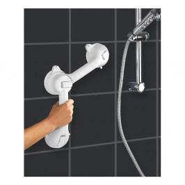 Biele bezpečnostné držadlo do sprchy pre seniorov Wenko Secura, dĺžka 49,5 cm