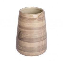 Pískovohnedý pohárik na zubné kefky Wenko Pottery