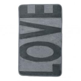 Sivá kúpeľňová predložka s pamäťovou penou Wenko Love, 80×50 cm