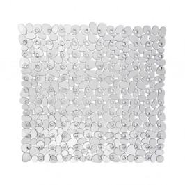 Transparentní protišmyková kúpeľňová podložka Wenko Drop, 54×54 cm