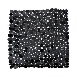 Čierna protišmyková kúpeľňová podložka Wenko Drop, 54×54 cm