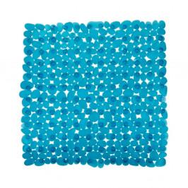 Petrolejove modrá protišmyková kúpeľňová podložka Wenko Drop, 54×54 cm