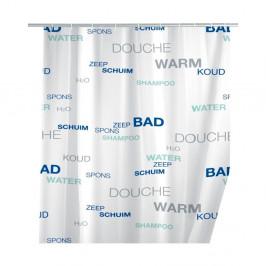 Biely sprchový záves Wenko Douche, 180×200 cm