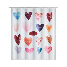 Sprchový záves Wenko Love, 180×200 cm