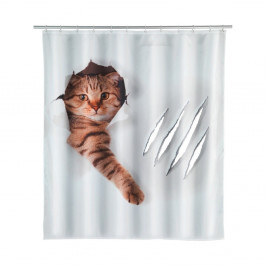 Sprchový záves Wenko Cat, 180×200 cm