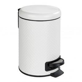 Biely kúpeľňový odpadkový kôš z ocele Wenko Punto, 3 l