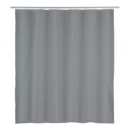 Sivý sprchový záves Wenko Punto, 180 x 200 cm