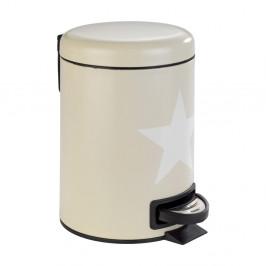 Béžový kúpeľňový odpadkový kôš z ocele Wenko Stella, 3 l