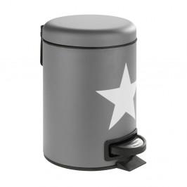 Sivý pedálový odpadkový kôš z ocele Wenko Stella, 3 l