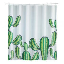 Sprchový záves Wenko Cactus, 180×200 cm