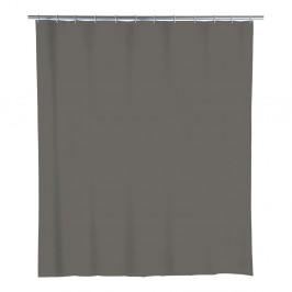 Sivý sprchový záves Wenko Simpler, 180 x 200 cm