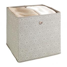 Béžový úložný box Wenko Balance, 32x32cm