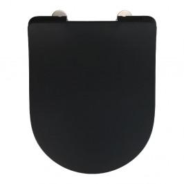 Čierne WC sedadlo Wenko Sedilo Black, 45,2 × 36,2 cm