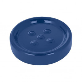 Tmavomodrá podložka pod mydlo Wenko Polaris Dark Blue