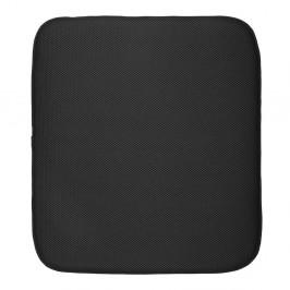 Čierna podložka na umytý riad iDesign iDry, 45,7×40,6 cm