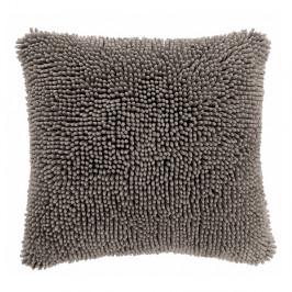 Sivý poťah na vankúš Tiseco Home Studio Shaggy, 45 × 45 cm