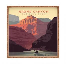Drevený dekoratívny servírovací podnos Grand Canyon, 40×40 cm