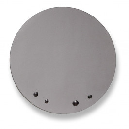Zrkadlo v sivej farbe EMKO Dew, ø 70 cm